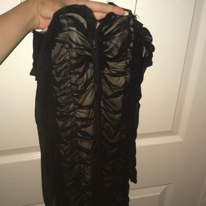 sexy black sheer fashion nova dress